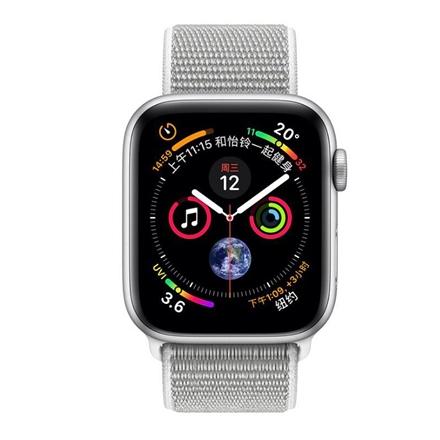 Apple Watch SERIES 4 银色铝金属表壳搭配海贝色回环式运动表带 44mm GPS+蜂窝数据